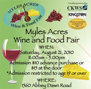 Myles Acres Wine & Food Fair