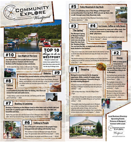 Top 10 things to do in Westport Ontario