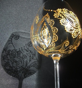 Mehndi Glass