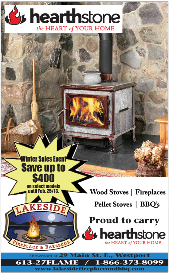 Save up to $400 at Lakeside Fireplace Winter Sale Event in Westport Ontario
