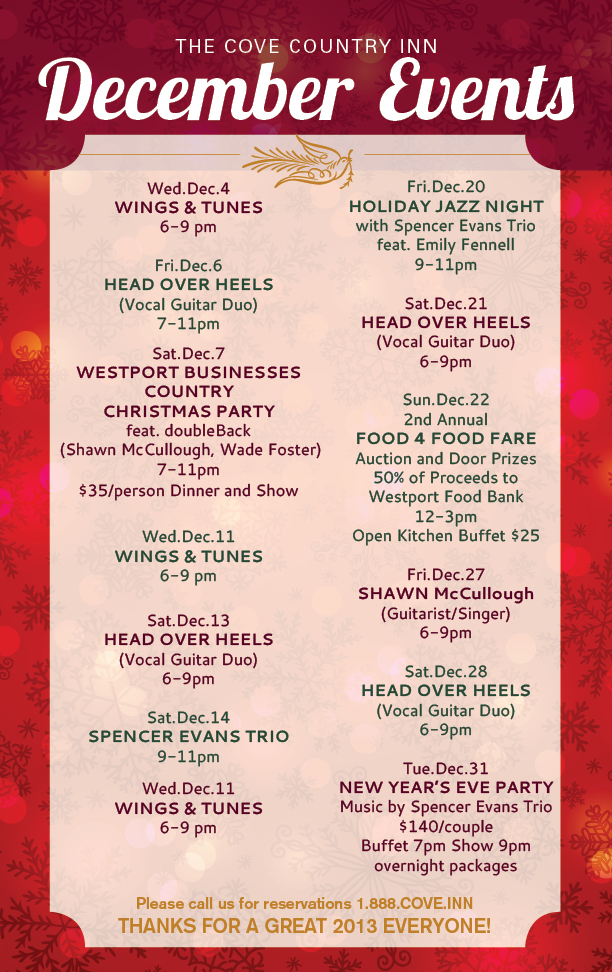 Cove December Events