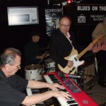 Michael Fonfara on the keys with Teddy Leonard on guitar