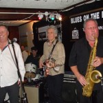 Chuck & Gary with Pat Carey blowin' hard on the sax