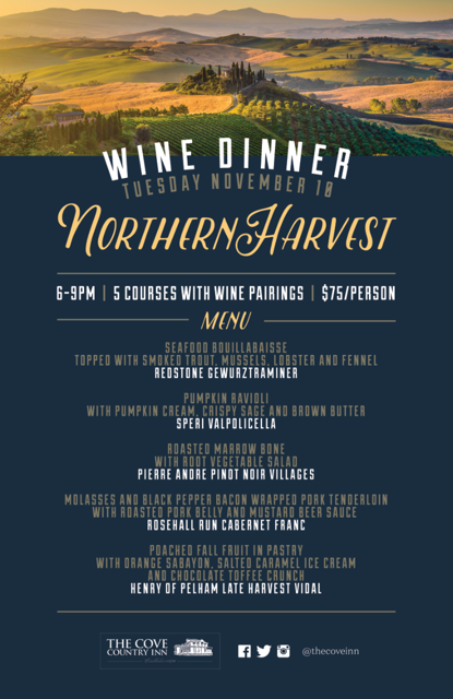 Northern Harvest Wine Dinner 2015