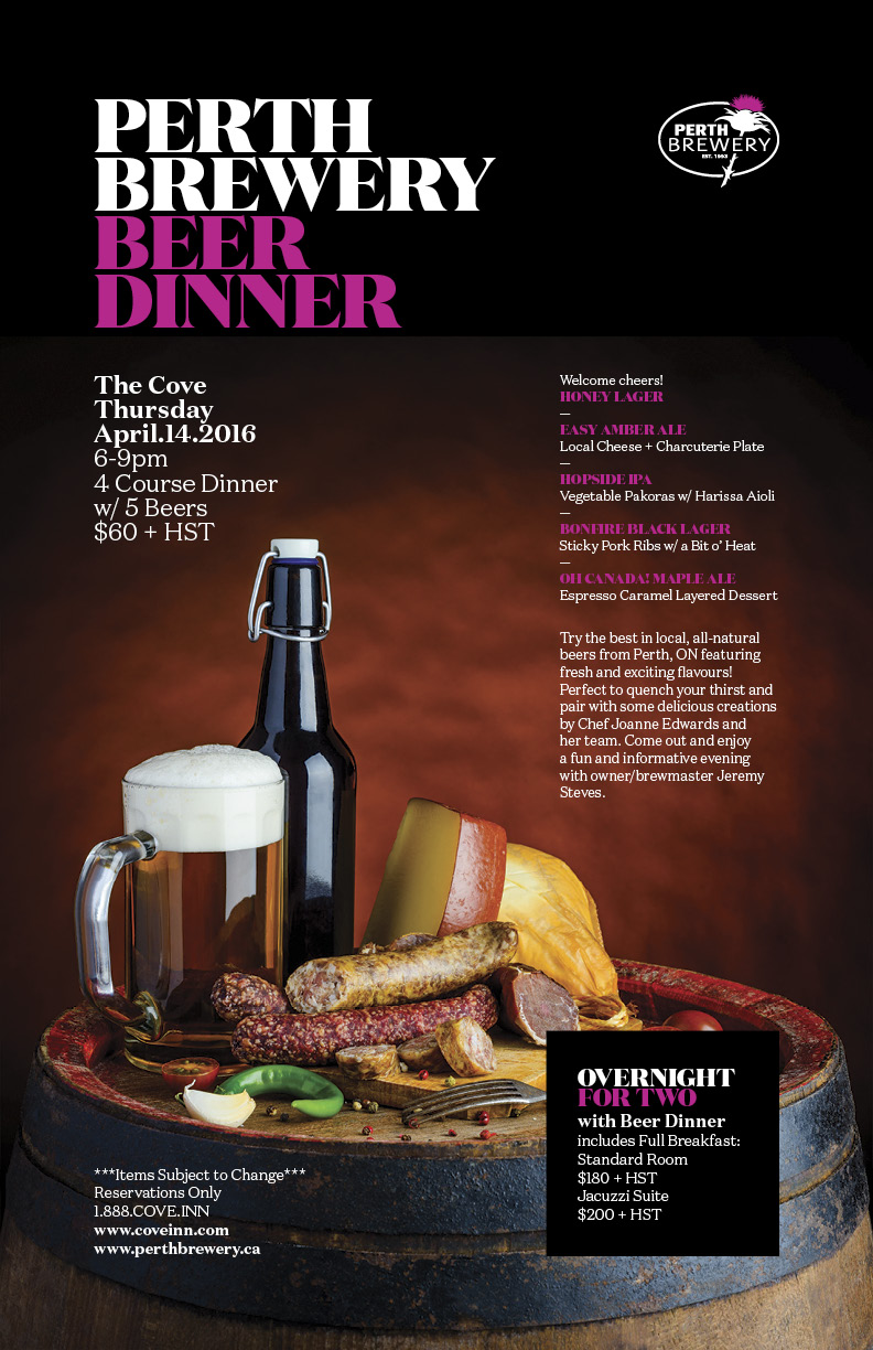 49b9ab6eba1 Perth Brewery Beer Dinner   The Cove