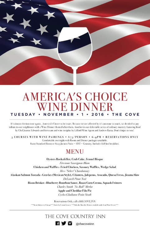 America 39 S Choice Wine Dinner Rideau Lakes Ontario