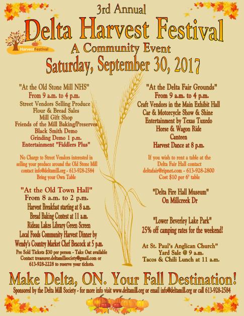 Rideau Lakes Ontario » Blog Archive » Delta Harvest Festival